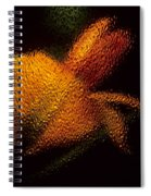 Orange Floral In Abstract Spiral Notebook