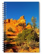 Orange Foreground A Blue Blue Sky  Spiral Notebook