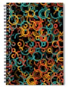 Orange Geometric Circle Segment Pattern Spiral Notebook