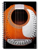 Orange Guitar Baseball White Laces Square Spiral Notebook