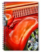 Orange Hood And Fender-hdr Spiral Notebook