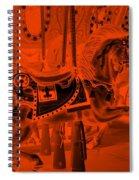 Orange Horse Spiral Notebook