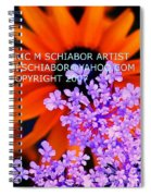 Orange Lavender Flower Spiral Notebook