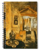 Orange Light At Mount Vernon Spiral Notebook