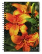 Orange Lillies Spiral Notebook