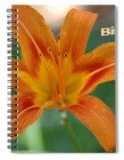 Orange Lily Birthday 1 Spiral Notebook