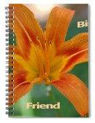 Orange Lily Birthday Spiral Notebook