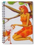 Orange Olga Spiral Notebook
