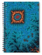 Orange On Blue Abstract Spiral Notebook
