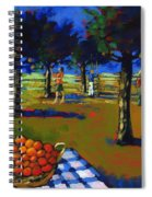 Orange Picking Spiral Notebook