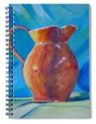 Orange Pitcher Still Life Spiral Notebook