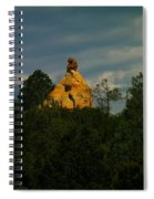 Orange Rock Among The Trees Spiral Notebook