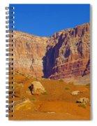 Orange Rock Before The Cliffs Spiral Notebook