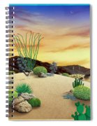 Orange Sky Sunset Spiral Notebook