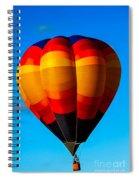 Orange Stipped Hot Air Balloon Spiral Notebook