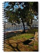 Orange Street Pier Bench Spiral Notebook