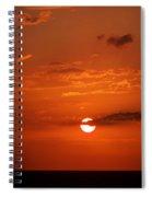 Orange Sun Spiral Notebook