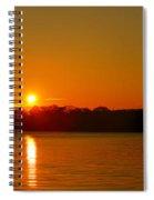 Orange Sunrise Over Dc Spiral Notebook