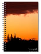 Orange Sunset And Silhouettes Of Norfolk Pines Spiral Notebook
