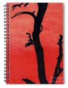 Orange Sunset Silhouette Tree Spiral Notebook