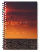Orange Sunset Over Oyster Bay Spiral Notebook