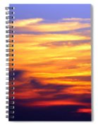 Orange Sunset Sky Spiral Notebook