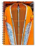 Orange Terraplane Spiral Notebook