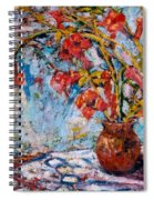 Orange Trumpet Flowers Spiral Notebook