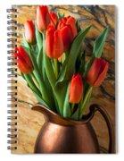 Orange Tulips In Copper Pitcher Spiral Notebook