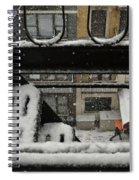 Orange Umbrella - Winter In New York Spiral Notebook