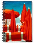 Orange Umbrellas Spiral Notebook