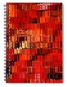 Orange Under Glass Abstract Spiral Notebook