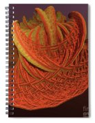 Orange Weave Spiral Notebook
