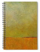 Orange With Red And Gold Spiral Notebook