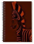 Orange Zebra Spiral Notebook