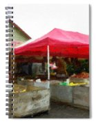 Orchard Fruit Stand Spiral Notebook