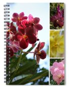 Orchid Collage Spiral Notebook