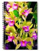 Orchid Flower Bunch Spiral Notebook