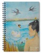 Orchid Flower Love Spiral Notebook