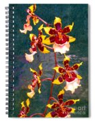 Orchid Spray By Pottery  Spiral Notebook
