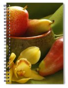 Orchid With Pears Spiral Notebook