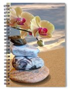 Orchids And Pebbles On Sand Spiral Notebook