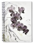 Orchids And Suminagashi Spiral Notebook