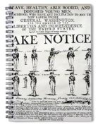 Order Of Battle - Take Notice Brave Men Spiral Notebook