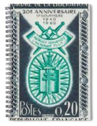 Order Of The 20th Anniversary Release 17 November 1940 To 1960 Patriam Servando Victoriam Tulit Spiral Notebook