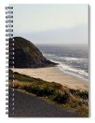 Oregon Coast And Fog Spiral Notebook