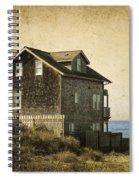 Oregon Coast Beach House Spiral Notebook