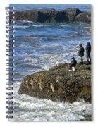 Oregon Coast Fishermen Spiral Notebook