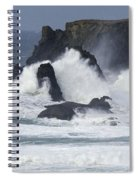 Oregon Coast Furrious Waves 1 Spiral Notebook