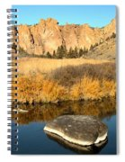 Oregon River Rock Reflections Spiral Notebook
